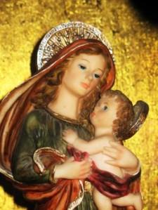 Maria og Jesus barni