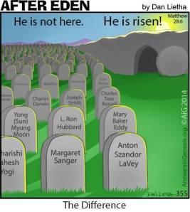 Jesus reis upp, men hini liggja enn og bíðja eftir dómadegi